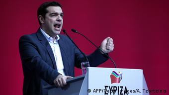 Alexis Tsipras, Syriza, im Wahlkampf, 03.01.2015 Athen (Foto: ANGELOS TZORTZINIS/AFP/Getty Images)
