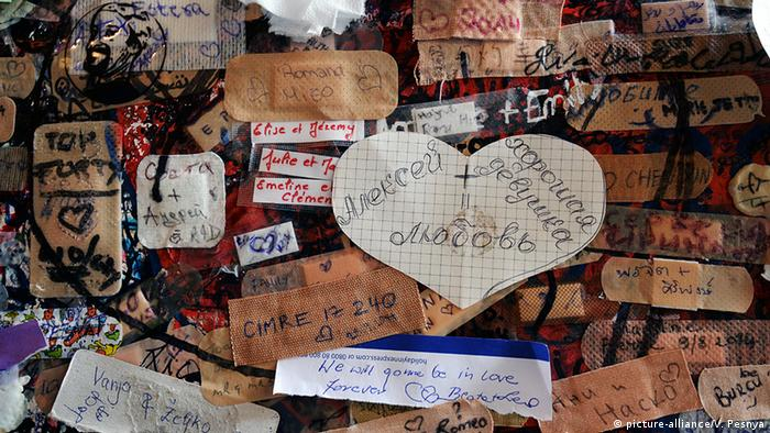 Letters to Juliet at the Romeo and Juliet house in Verona, Italy
