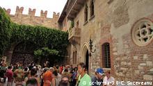 Italien Stadt Verona Haus Julia (cc-by-sa-3.0-C. Suceveanu)
