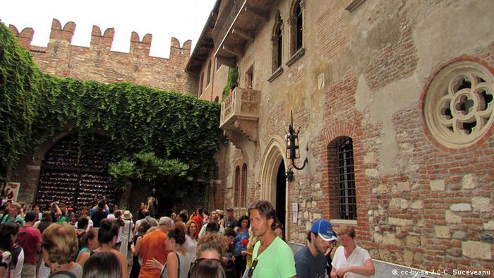 La casa de Julieta en Verona, Italia.