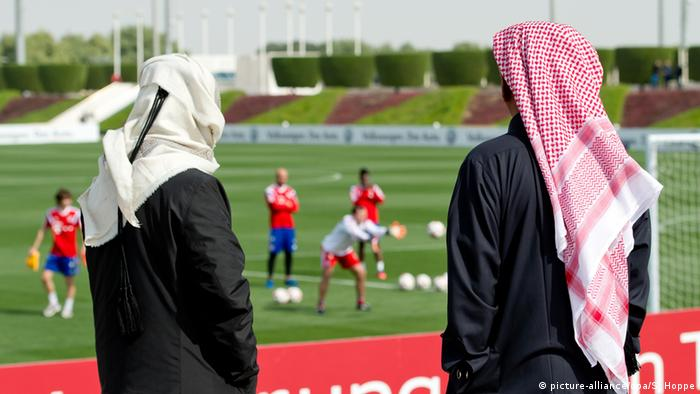 Bayern train in Qatar