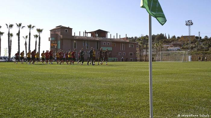 Mainz trains at the Marbella Football Center.