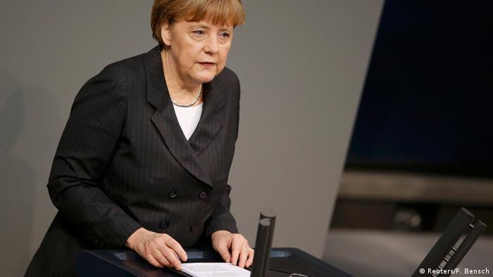 Bundeskanzlerin Angela Merkel im Bundestag 15.01.2015