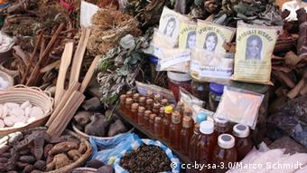 Medicinal plants at a market in Madagascar