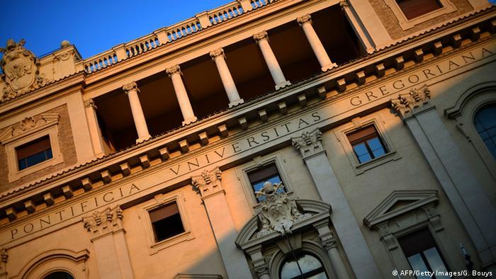 The slanted Gregorian architecture of the Vatican's Gregorian University