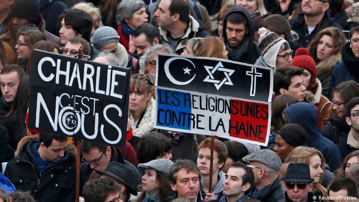 Trauermarsch in Paris