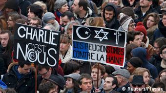 Trauermarsch in Paris, 11.01.2015 (Foto: Reuters)