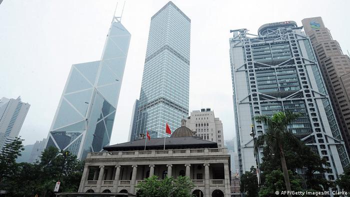Hongkong Gebäude der Bank of China, Cheung Kong Center und HSBC