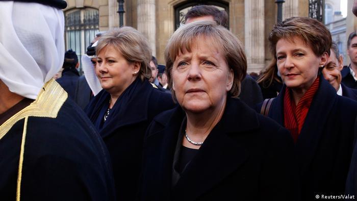 Trauermarsch in Paris 11.1.2015 Ausschnitt