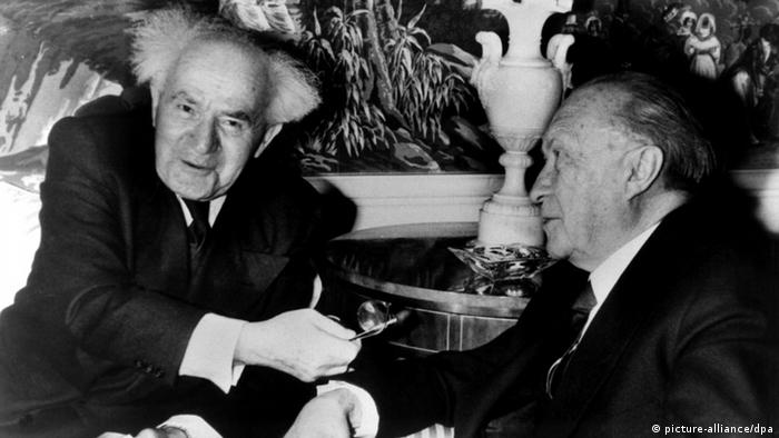 Konrad Adenauer and David Ben-Gurion in New York in 1960.