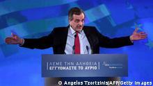 Griechenland Samaras Wahlkampf Januar 2015