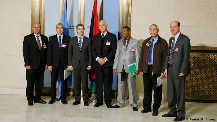 Schweiz Libyen Friedensgespräche in Genf Gruppenfoto