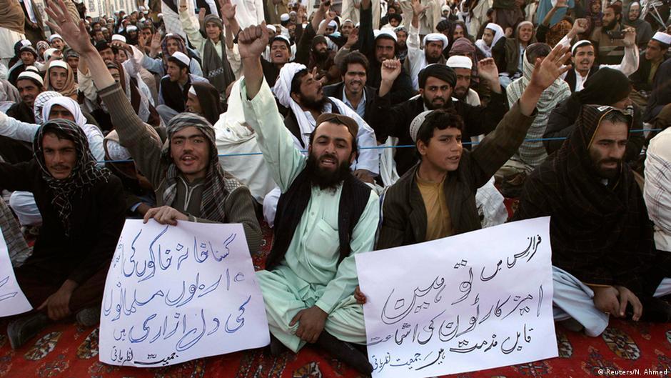 صدامات بين الشرطة ومتظاهرين ضد شارلي إيبدو في باكستان   DW   16.01.2015
