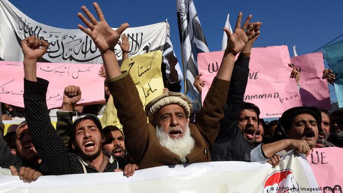 Proteste in Pakistan gegen Mohammed-Karikaturen