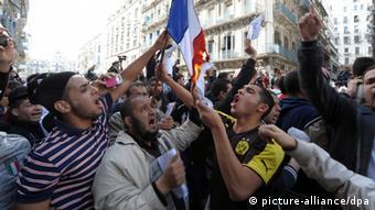Algerien Proteste wegen Mohammed-Karikatur Charlie Hebdo 16.01.2014