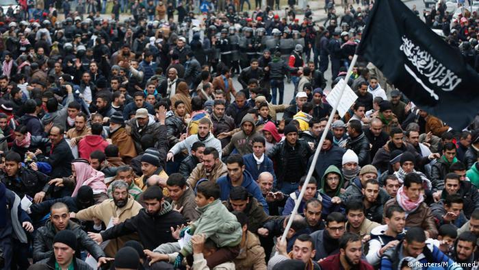 Jordanien Proteste wegen Mohammed-Karikatur Charlie Hebdo 16.01.2014