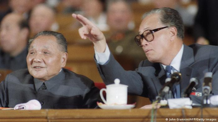 Deng Xiaoping & Zhao Ziyang KP China 21.10.1987 (John Giannini/AFP/Getty Images)