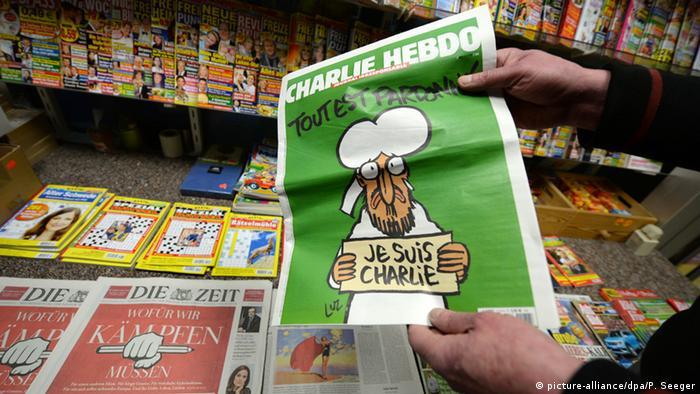 Предыдущий номер Charlie Hebdo в киосках Германии