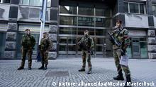 20150117 - ANTWERP, BELGIUM: Illustration picture shows security measures in Antwerp after wednesday's anti-terrorism operations, Saturday 17 January 2015. Two suspected jihadists were killed in an anti-terrorist operation in Verviers, Eastern Belgium, a third person was wounded and has been arrested. According to the Belgian prosecutor's office, the suspects recently returned from Syria and were planning a major terror operation in Belgium. Several other anti-terror raids took place late on Thursday in Brussels and Halle-Vilvoorde area. 13 people were arrested. BELGA PHOTO NICOLAS MAETERLINCK