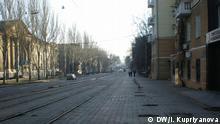 Donezk leere Straßen