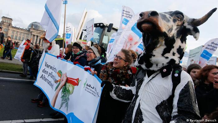 Berlin Anti TTIP Protest Anti Industrielle Landwirtschaft 17.01.2015