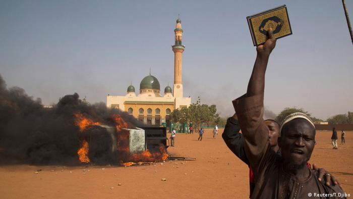 Niger Anti Charlie Hebdo Protest Islam Koran 17.01.2015