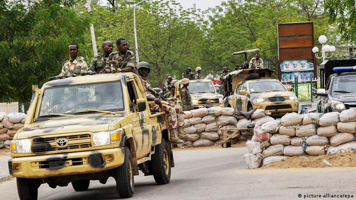 Nigerian troops in Maiduguri (picture-alliance/epa)