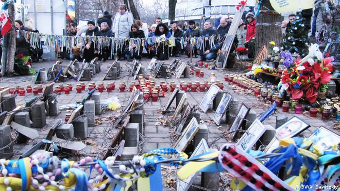 Ukraine Kiew Gedenken Opfer auf Maidan und in Donbass