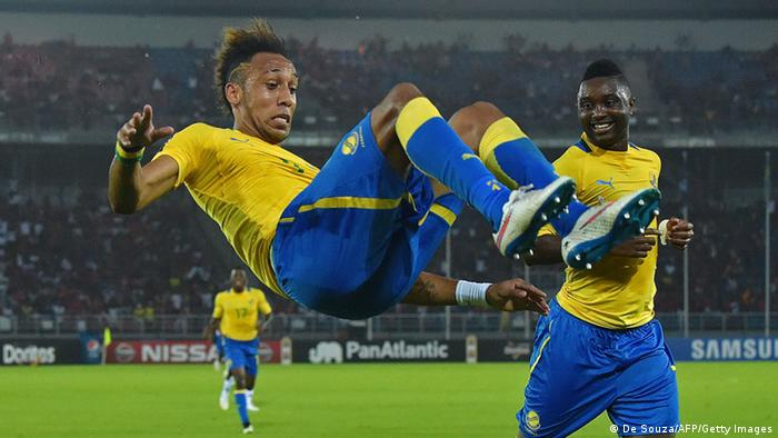 Africa Cup Burkina Faso vs Gabun Aubameyang 17.01.2015 (De Souza/AFP/Getty Images)