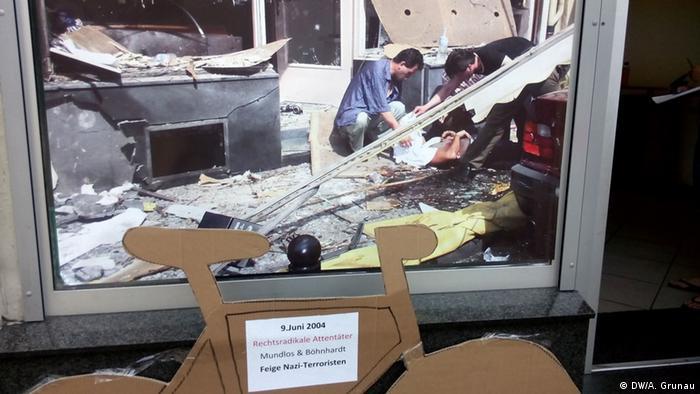 Foto vom Tag des Nagelbombenanschlags vom 9.6.2004 in der Kölner Keupstraße (DW/A. Grunau)