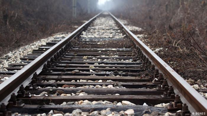 Bahngleis in Bulgarien
