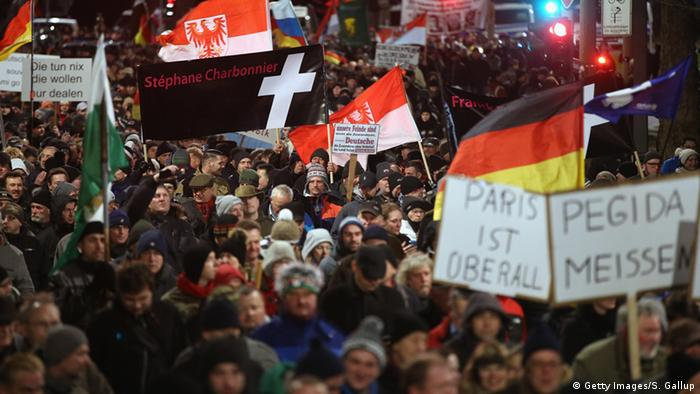 Pegida Demonstration in Dresden Archiv 12.01.2015