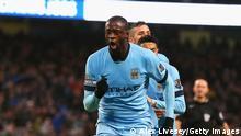 Fußball Yaya Toure von Manchester City