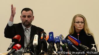 Pegida-Gründer Lutz Bachmann und Sprecherin Kathrin Oertel (Foto: AFP/Getty Images/R. Michael)