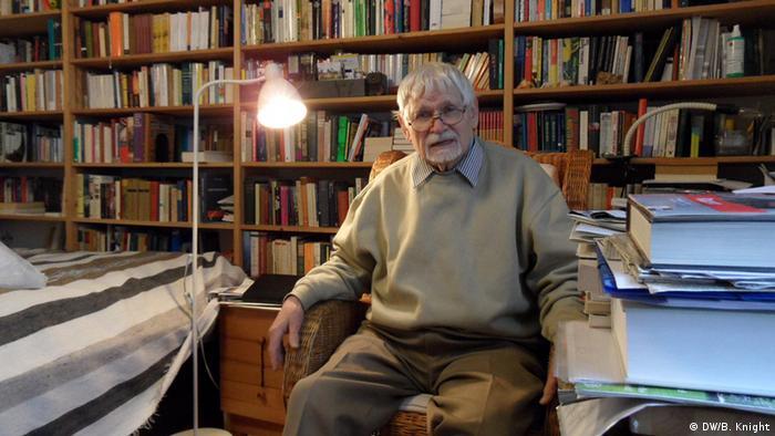 Reinhard Strecker in his apartment