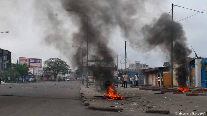 Ausschreitungen in Kinshasa 19. Januar 2015 (Foto: Anadolu)