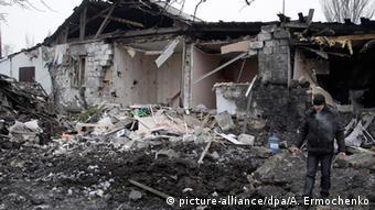 Ukraine Zerstörung in Donezk