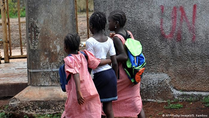 Schulkinder in Guinea Conakry (AFP/Getty Images/S. Kambou)