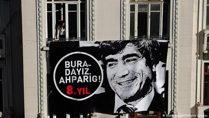 Istanbul Trauermarsch für den ermordeten Journalisten Hrant Dink