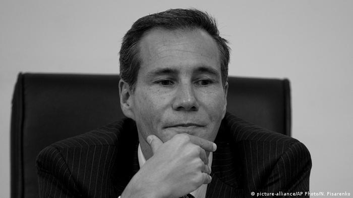 Argentinischer Staatsanwalt Alberto Nisman s/w