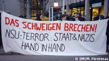 Protest-Aktion vor dem Oberlandesgericht München NSU Prozess Kölner Keupstraße