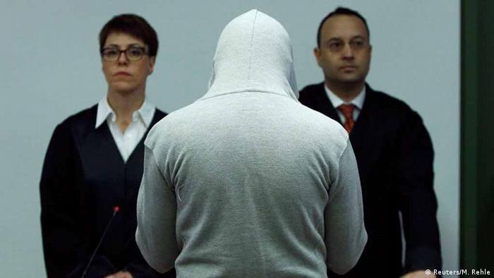 Обвинувачений Гарун П. у залі суду в Мюнхені, 20 січня