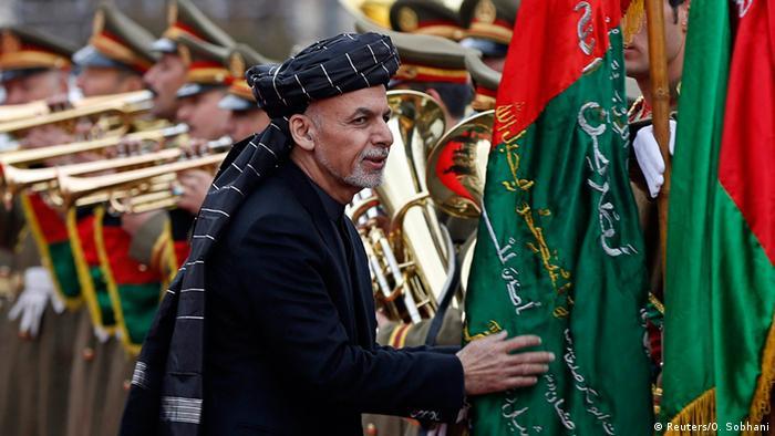 Präsident Ghani bei der Zeremonie zur Verkündung des afghanischen Kabinetts (Foto: rtr)