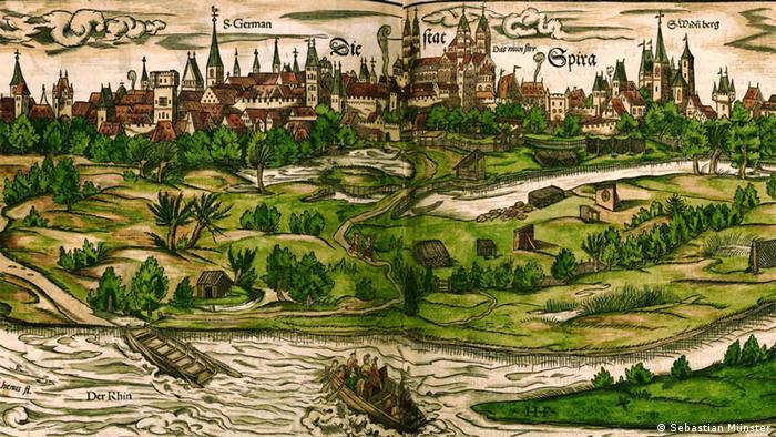 Шпайер на рисунке 1550 года