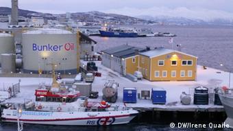 Norwegen Tromso Arktis Öl Industrie 20.01.2015