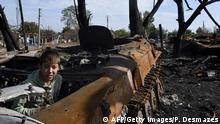 Ostukraine Krise Kind bei Lugansk Archiv 11.09.2014