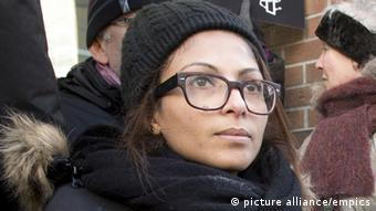 Ensaf Haidar at a protest. (Photo: THE CANADIAN PRESS/Ryan Remiorz)