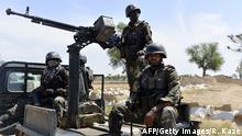 Kamerunische Soldaten an der Grenze zu Nigeria Archiv 12.11.2014