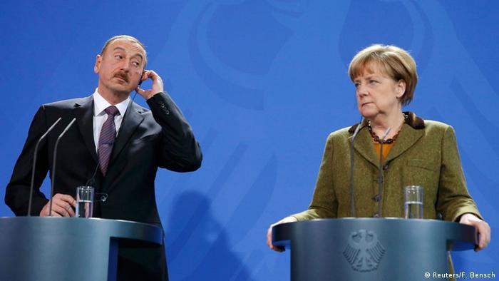 На пресс-конференции Ильхама Алиева и Ангелы Меркель в Берлине, 21 января