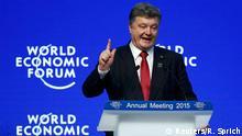 Davos WEF Auftritt Poroschenko 21.01.2015